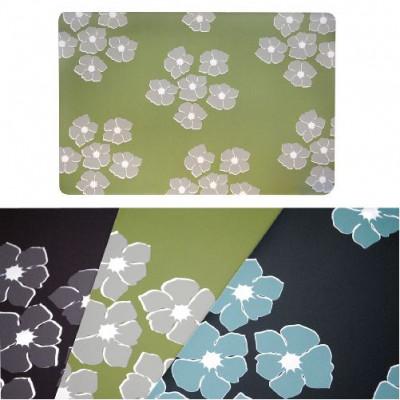 prostírání plastové, KVĚTINY 43,5x28,5cm ZE, HN, ČER - mix barev