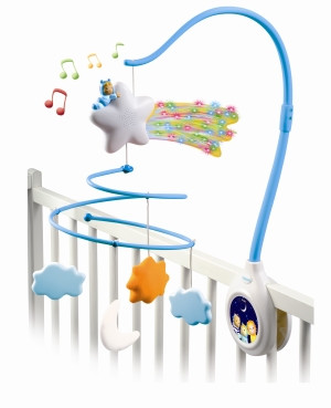 Cotoons hudební kolotoč modrý