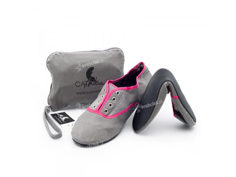 CatMotion skladacie balerínky do kabelky Strand Pink 76b1ed088a1