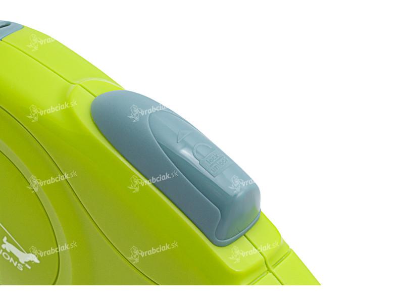 Vodítko COZY GRIP zelené - detail ovládání
