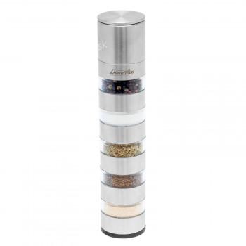 Manuálne mlynček MULTI na korenie, korenie či soľ 5v1 Domestico