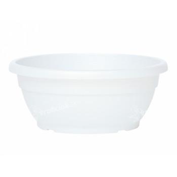 Žardinka SIMILCOTTO DEKOR plastová bílá d20cm