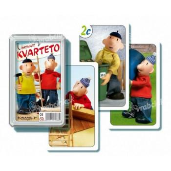 Kvarteto Pat a Mat I spoločenská hra - karty v plastovej krabičke