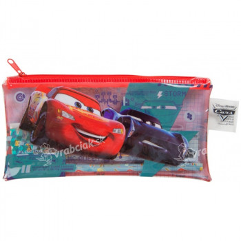 Penál plastový na zip plný Cars 3