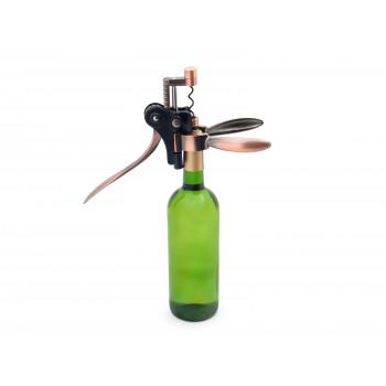 Pákový otvárač na víno - luxusná sada so stojanom, náhradné vývrtkou a nožíkom na fóliu Domestico
