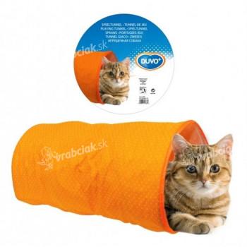 Tunel preliezacie pre mačky oranžový dôvo + 50 x 25 x 25 cm