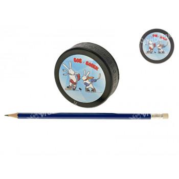 Puk hokejový černá guma 7,5x2,5cm MS2015 Bob a Bobek
