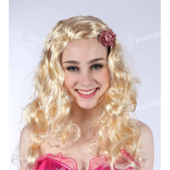 Parochňa blond - dlhé vlnité vlasy
