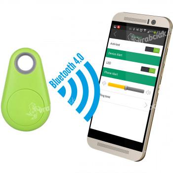 Šikovný prívesok - strážca a hľadač vecí cez mobilný telefón, zelený