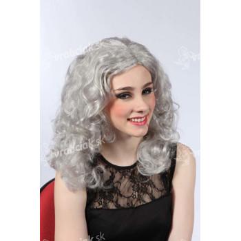 Parochňa biela - dlhé vlnité vlasy
