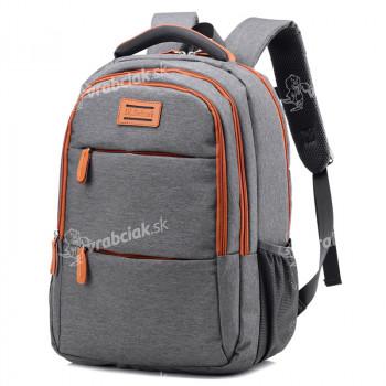 Školský batoh, sivý