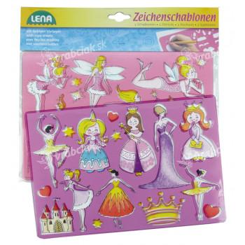 Lena Princezné, baletky kresliace šablóny