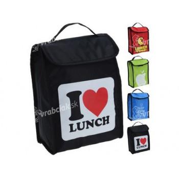 taška chladiacej na obed 4l 24x18,5x10cm, s potlačou - mix farieb
