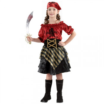 Kostým Pirátka, veľkosť 110-120 cm