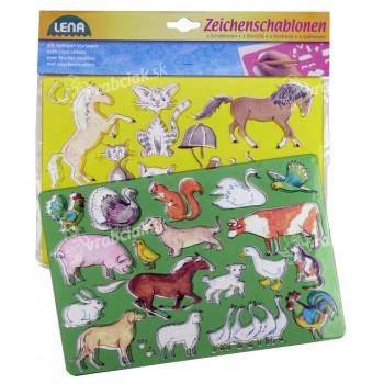 Kresliace šablóny (kone, mačky)