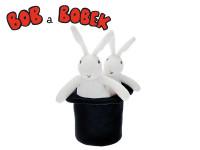Bob a Bobek 25cm 20cm plyš s kloboukem 16cm v sáčku 0m+