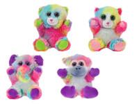 Zvieratko dúhové plyšové 16 cm sediaci - mix variantov či farieb
