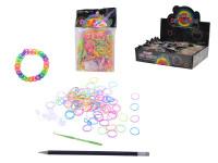 Udělej si svůj náramek - gumičky 600ks + náčiní - mix variant či barev