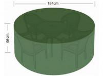 plachta krycia na set 4 stoličiek + kul. stôl pr.184x98cm PE 110g / m2