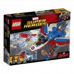 Lego Super Heroes 76076 Kapitán America a honička ve stíhačce