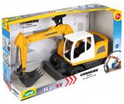 Auto Bager Worxx plast 48cm 1:15 v krabici Liebherr A918 Litronic