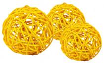 Dekorace - Lata Ball 4 cm - žlutý 4 ks