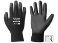 rukavice PURE BLACK PU 7 - VÝPREDAJ
