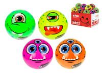 Loptička Monster 11 cm s bláznivým tvárou - mix variantov či farieb
