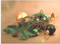 Dárková taška DXA vánoční zlatá - ozdoby - VÝPREDAJ