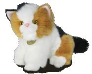 Kočka Calico plyšová 20 cm
