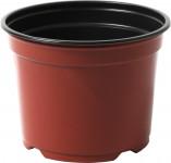 Kvetináč - kontajner Desch 12 cm - terakota / čierny - 10 ks