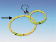 Obojek plast svítící - žlutý, dobíjení USB Nobby 70 cm