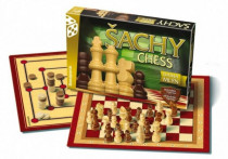 Šachy, dáma, mlýn společenská hra