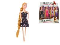 Bábika kĺbová 29 cm dlhé vlasy - mix variantov či farieb