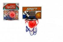 Basketbalová sada na prilepenie na stenu loptička + kôš plast 14cm