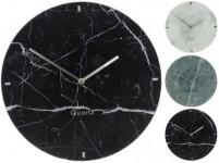 hodiny nástenné pr.30cm dekor mramor skl. - mix farieb