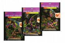 Škrabacie obrázok dúhový 20x25cm - mix variantov či farieb