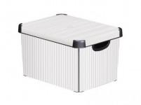 box úložný CLASSICO 40x30x23cm (L) s vekom, plastový