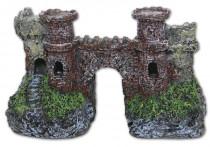 Dekorace do akvária - Starý hrad s mostem Tommi 19,5 x 10 x 11,5 cm