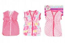 Taška / oblečok na spanie látková pre bábätko veľkosť + -30˚C na karte 25x38cm - mix farieb