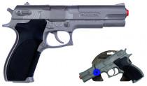 Policajné pištole strieborná matná kovová 8 rán
