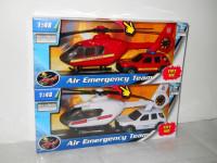 1:48 záchranári auto a vrtuľník - mix variantov či farieb