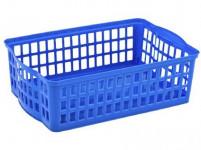 košík stohovateľný A4 36x24,5x10cm plastový - mix farieb