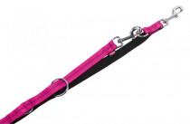 Vodítko nylon soft Grip prep. - tmavo ružové Nobby 1,5 x 200 cm