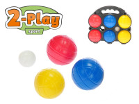 Petangue set - koule 7 cm 6 ks 2-Play v plastovém pouzdře