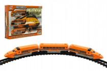 Dráha Vlak + koľaje a doplnky plast 17ks na batérie so zvukom so svetlom
