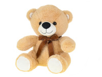 Medveď plyšový 30 cm sediaci s mašľou