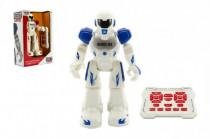 Robot chodiaci a tancujúci s ovládačom na batérie + USB kábel plast 25cm