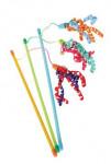 Hračka mačka udice Ribbon fishing mix farieb Zolux