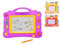 Magnetická kreslící tabulka 31x24 cm - mix barev